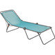Lafuma Mobilier Siesta L Camp Bed Batyline black/turquoise